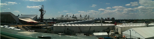 Olympic Park Panorama. Taken from the viewing area in John Lewis, Westfield, Stratford.