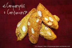 Carquinyolis/Carquiñoles/ Cantuccini cortados
