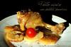 Pollo asado con patatas panadera