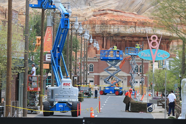 Progress on Cars Land (5/18/2012)