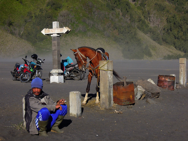 A local horseman taking a rest