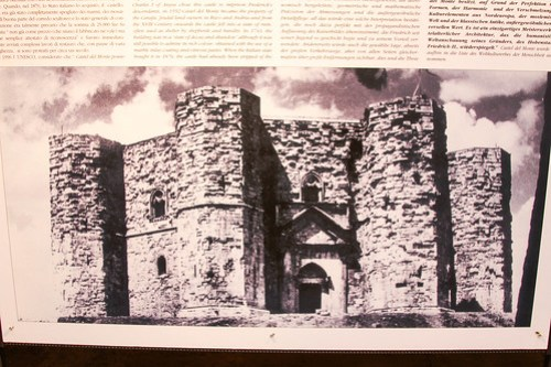 Castel del Monte before restoration, Puglia