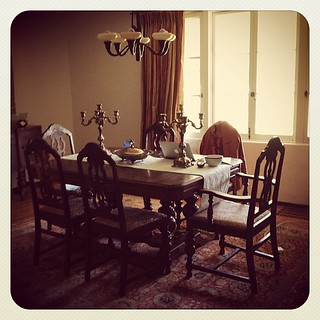 One of 2 writing spots in my house: I live writing at the dining room table