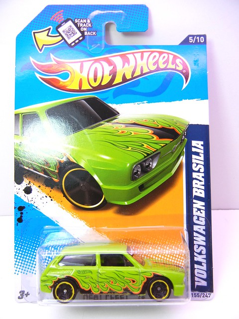 hot wheels volkswagen brasilia green (1)