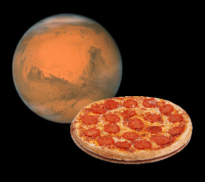 Pizza for Mars!