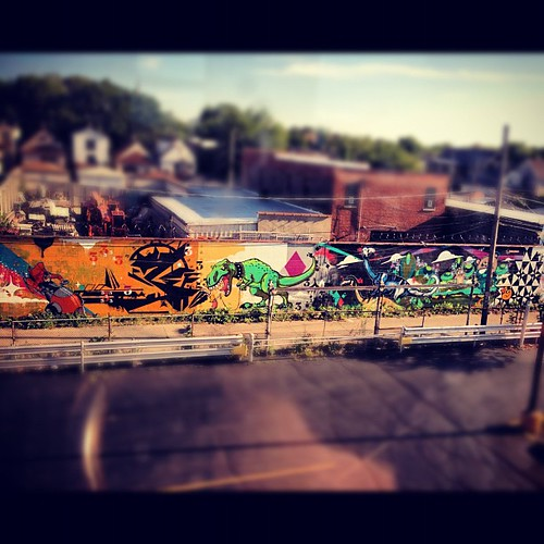 Graffiti from the blue line