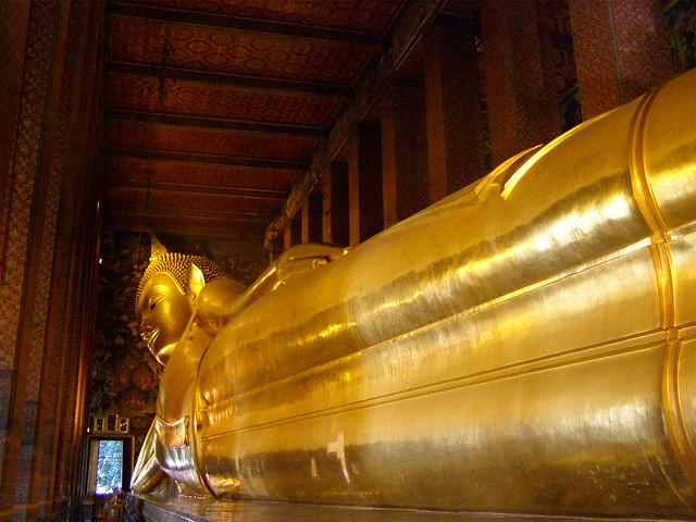 Reclining Buddha at Wat Pho - Bangkok. Thailand