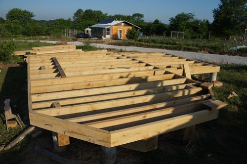 Timber Frame House Pole Foundation Construction Google Search
