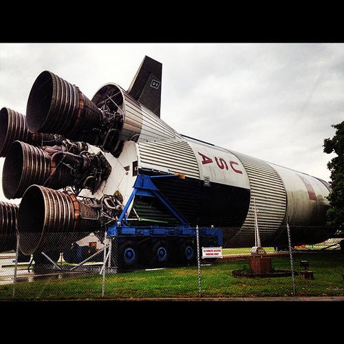 What'd I do today? Not much- just rode through a swamp and saw a space shuttle...