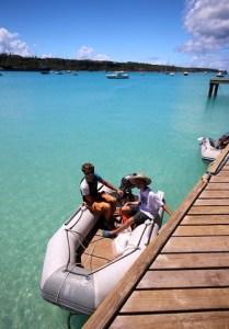 Gutta skal ut i båten