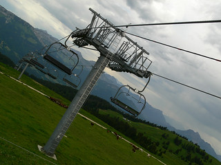 The ski lifts at Semnoz
