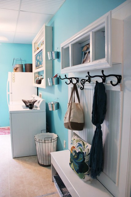 Blue paint color for laundry room