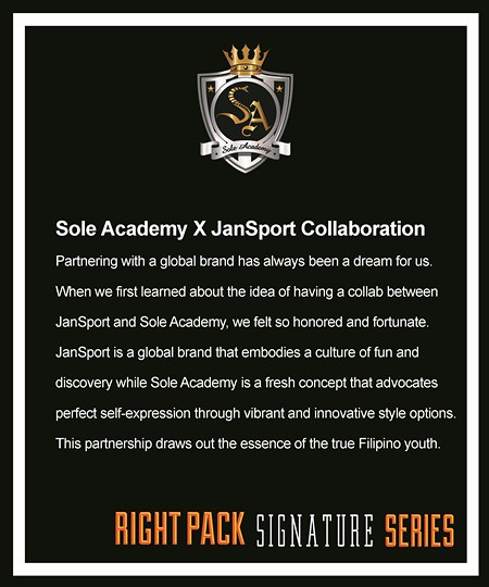 JanSport Right Pack Signature Series Collaboration