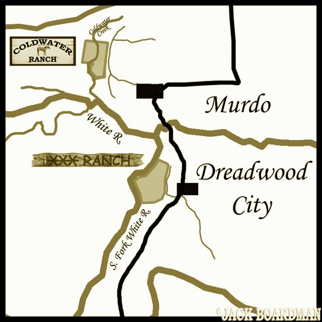 Take the trail west out of Murdo ©2012 Jack Boardman