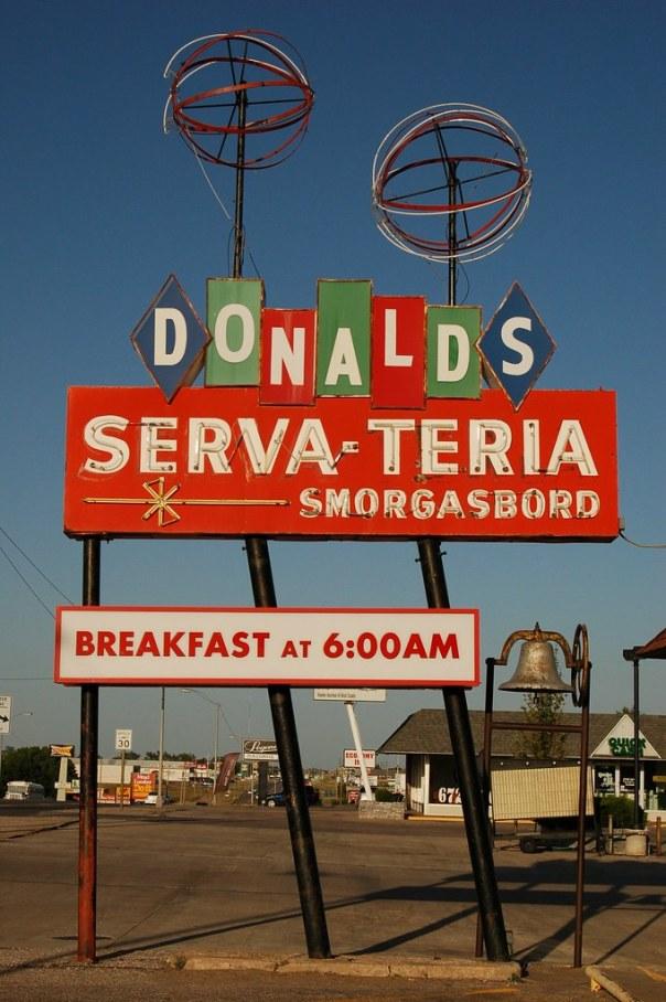 Donald's Serva-Teria Smorgasboard - 1123 East 1st Street, Pratt, Kansas U.S.A. - May 28, 2012
