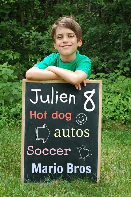 He's 8!