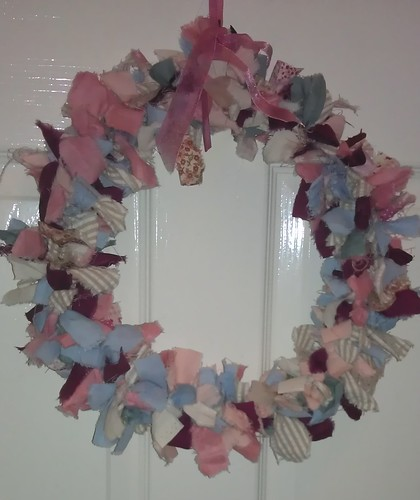 Poppy's fabric wreath