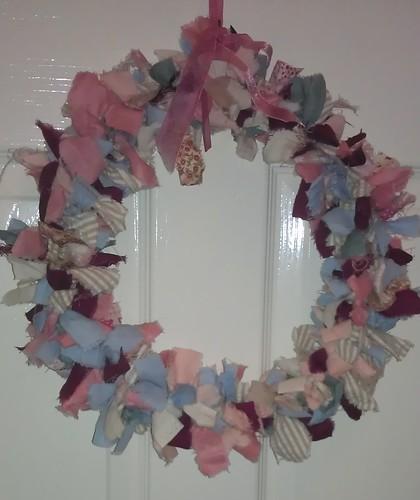 Poppy's fabric wreath