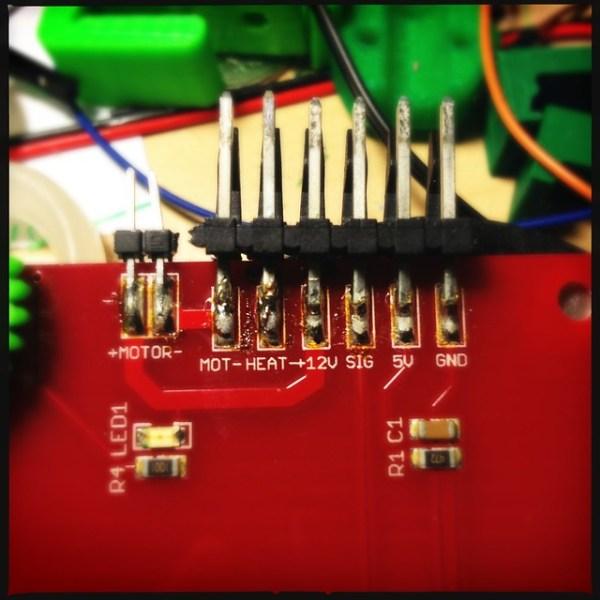 Broken pin on my MakerBot heater board