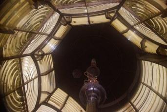 Hopetown Lighthouse Kerosene Light Mechanism and Fresnel Lens