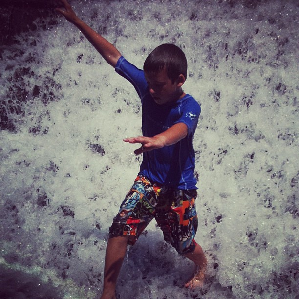 Water + kids = joy
