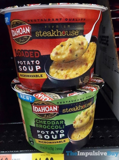Idahoan Steakhouse Potato Soup Microwaveable Bowls (Loaded and Cheddar Broccoli)