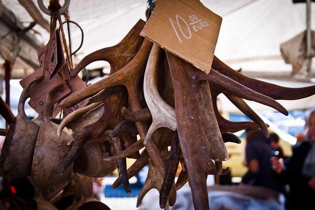 Helsinki Market Stall - Reindeer Horns