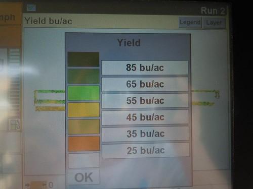 Yield monitor key
