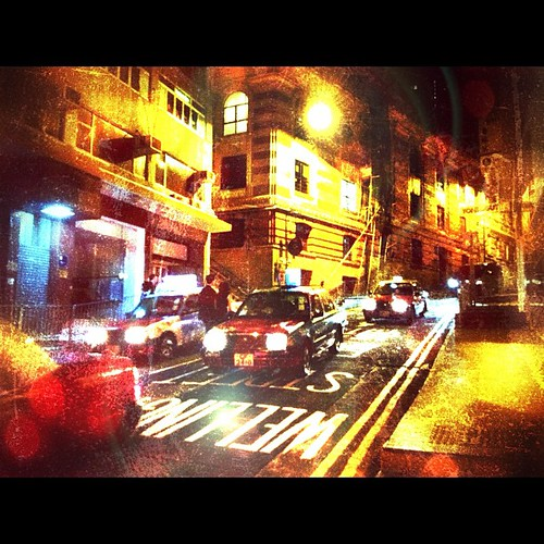 Getting a cab on Wellington St. on a Friday night (via @airasiaph) #HongKong #Travel #iphone4s #igersasia