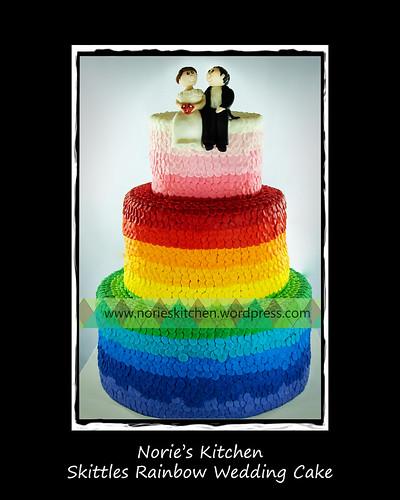 Norie's Kitchen - Skittles Rainbow Wedding Cake by Norie's Kitchen