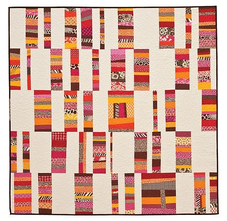 Elizabeth Hartman's wonky stripes quilt
