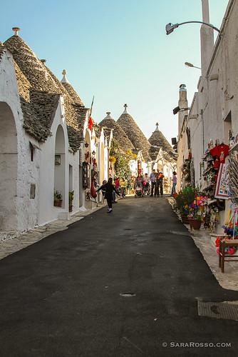 Alberello's rows of trulli, Puglia