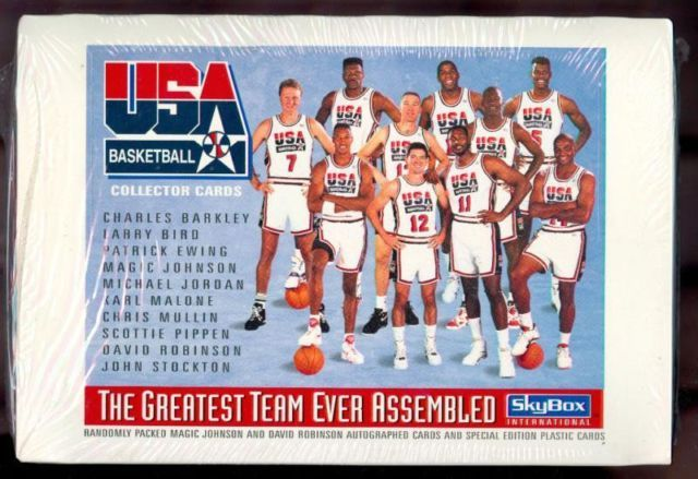 Skybox Dream Team cards box