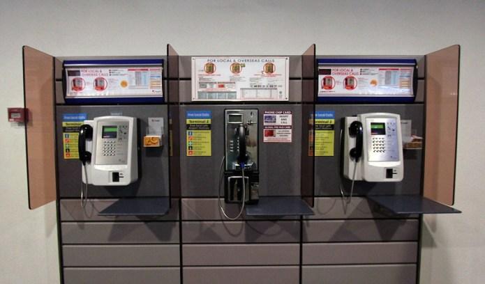 three pay phones