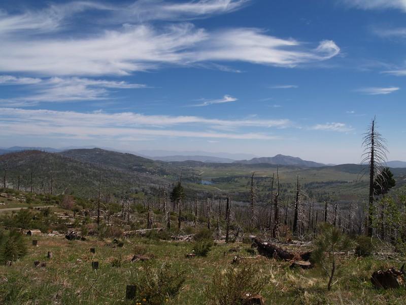 Looking northeast toward Lake Cuyamaca