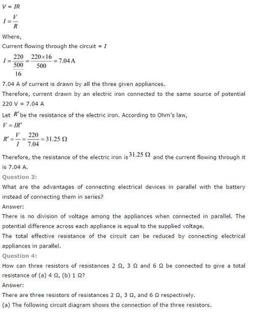 Chapter 12 Electricity (NCERT Solution)   TET Success Key