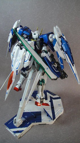 Custom Painted MG 00 Raiser Metal Build Color Scheme with Stand CF GundamPH (6)