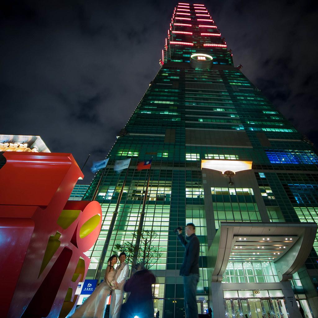 Taipei 101 Wedding Couple