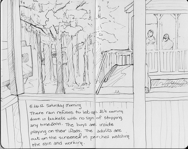 Camping Sketches - Rainy Day