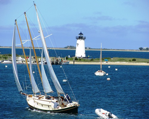 Schooner and Edgartown Light
