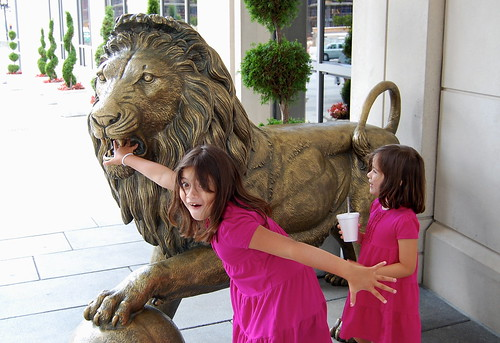 The Embassy Suites lion