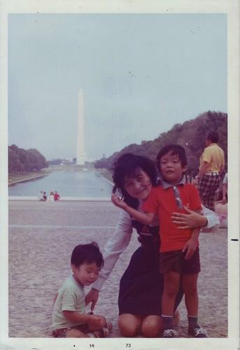 Terry, Mom, and Ken at Washington D.C. (1973)
