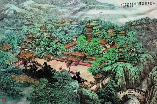 唐代法门寺二十四院画像
