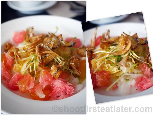 Cafe De Bonifacio- spicy daikon & pomelo salad P210
