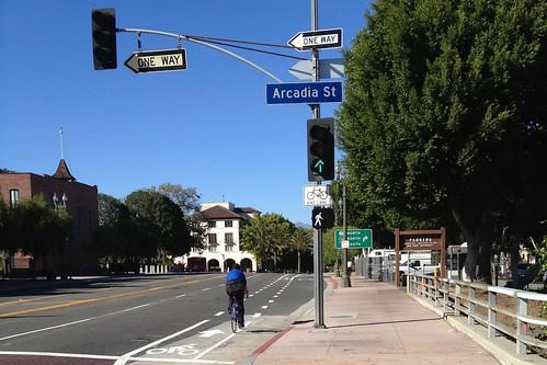 Los Angeles St. bike lane