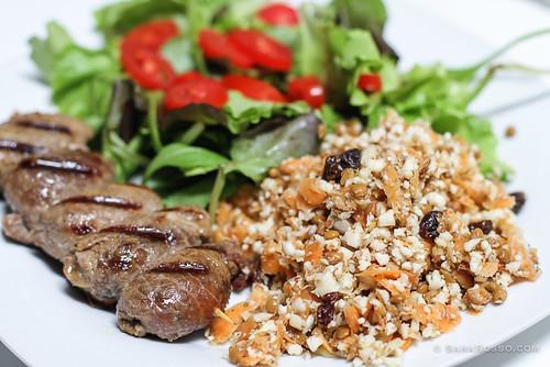 Cauliflower, Fennel, Carrot Raw Vegetable Detox Salad Recipe