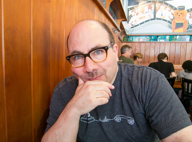Craig Newmark at Veselka in the East Village