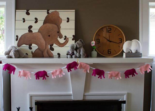 pink elephants on parade mantel