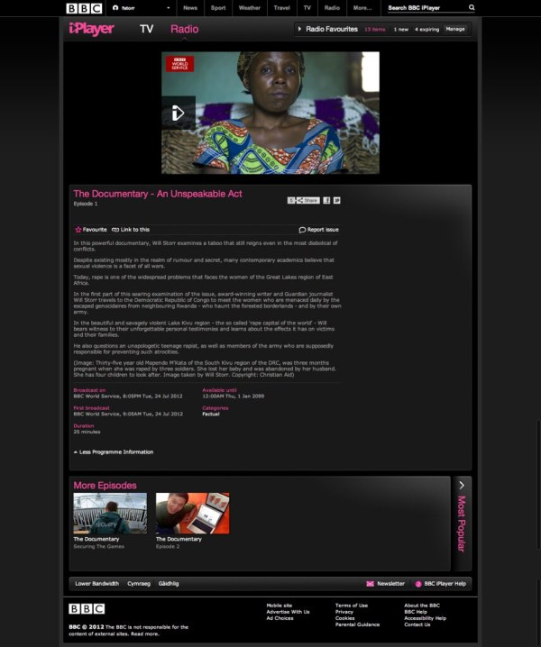BBC iPlayer The Documentary An Unspeakable Act Episode 1 ...