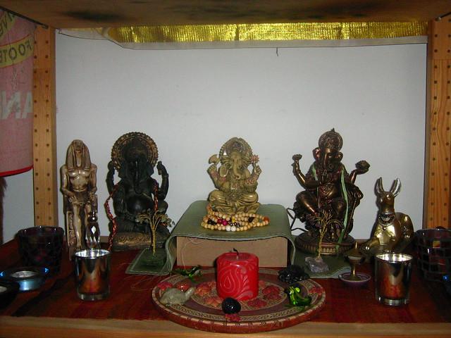 Ganesha, Djehuty and Wepwawet Shrine